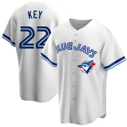 Jimmy Key Toronto Blue Jays Men's Replica Home Cooperstown Collection Jersey - White