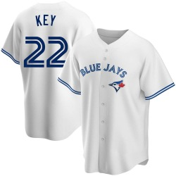 Jimmy Key Toronto Blue Jays Men's Replica Home Jersey - White