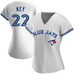 Jimmy Key Toronto Blue Jays Women's Authentic Home Jersey - White