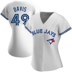 Jonathan Davis Toronto Blue Jays Women's Authentic Home Jersey - White