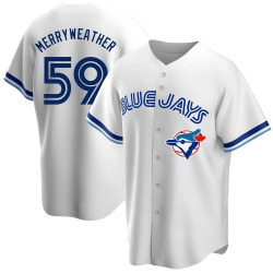 Julian Merryweather Toronto Blue Jays Men's Replica Home Cooperstown Collection Jersey - White