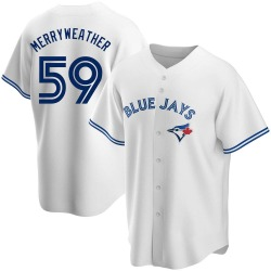 Julian Merryweather Toronto Blue Jays Youth Replica Home Jersey - White
