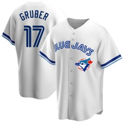 Kelly Gruber Toronto Blue Jays Men's Replica Home Cooperstown Collection Jersey - White