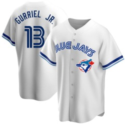 Lourdes Gurriel Jr. Toronto Blue Jays Youth Replica Home Cooperstown Collection Jersey - White