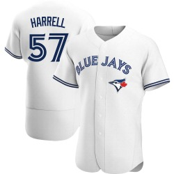 Lucas Harrell Toronto Blue Jays Men's Authentic Home Jersey - White