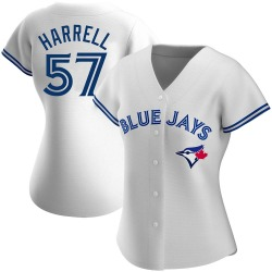Lucas Harrell Toronto Blue Jays Women's Authentic Home Jersey - White