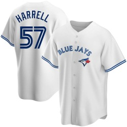 Lucas Harrell Toronto Blue Jays Youth Replica Home Jersey - White