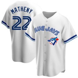 Mike Matheny Toronto Blue Jays Men's Replica Home Cooperstown Collection Jersey - White