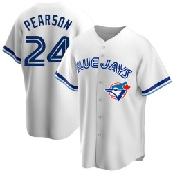 Nate Pearson Toronto Blue Jays Youth Replica Home Cooperstown Collection Jersey - White