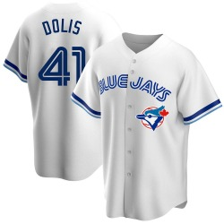 Rafael Dolis Toronto Blue Jays Men's Replica Home Cooperstown Collection Jersey - White