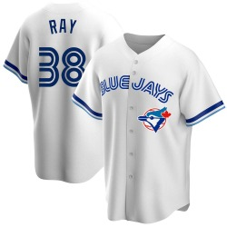 Robbie Ray Toronto Blue Jays Men's Replica Home Cooperstown Collection Jersey - White