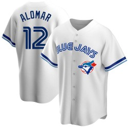 Roberto Alomar Toronto Blue Jays Men's Replica Home Cooperstown Collection Jersey - White