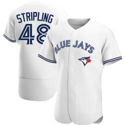 Ross Stripling Toronto Blue Jays Men's Authentic Home Jersey - White