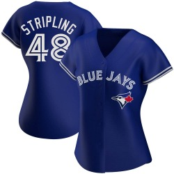 Ross Stripling Toronto Blue Jays Women's Authentic Royal Alternate Jersey - Strip