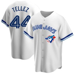 Rowdy Tellez Toronto Blue Jays Men's Replica Home Cooperstown Collection Jersey - White