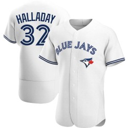 Roy Halladay Toronto Blue Jays Men's Authentic Home Jersey - White