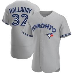 Roy Halladay Toronto Blue Jays Men's Authentic Road Jersey - Gray