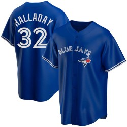 Roy Halladay Toronto Blue Jays Men's Replica Alternate Jersey - Royal