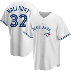 Roy Halladay Toronto Blue Jays Men's Replica Home Jersey - White