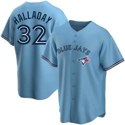 Roy Halladay Toronto Blue Jays Men's Replica Powder Alternate Jersey - Blue
