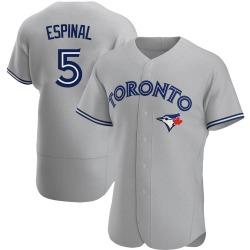 Santiago Espinal Toronto Blue Jays Men's Authentic Road Jersey - Gray