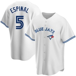 Santiago Espinal Toronto Blue Jays Youth Replica Home Jersey - White