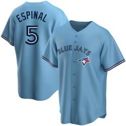 Santiago Espinal Toronto Blue Jays Youth Replica Powder Alternate Jersey - Blue