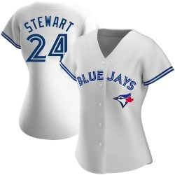 Shannon Stewart Toronto Blue Jays Women's Authentic Home Jersey - White