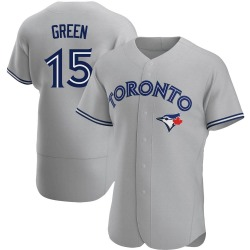 Shawn Green Toronto Blue Jays Men's Authentic Gray Road Jersey - Green