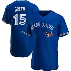 Shawn Green Toronto Blue Jays Men's Authentic Royal Alternate Jersey - Green