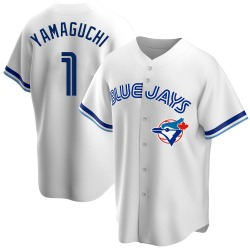 Shun Yamaguchi Toronto Blue Jays Men's Replica Home Cooperstown Collection Jersey - White