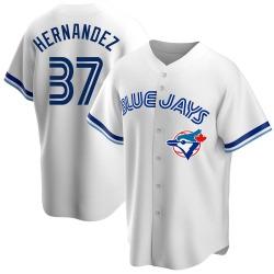 Teoscar Hernandez Toronto Blue Jays Men's Replica Home Cooperstown Collection Jersey - White