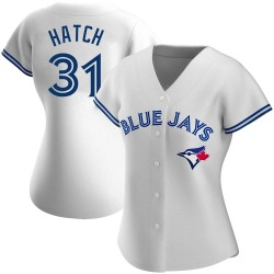 Thomas Hatch Toronto Blue Jays Women's Authentic Home Jersey - White