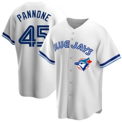 Thomas Pannone Toronto Blue Jays Men's Replica Home Cooperstown Collection Jersey - White