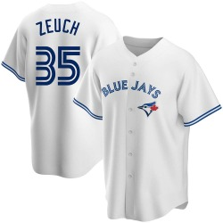 T.J. Zeuch Toronto Blue Jays Youth Replica Home Jersey - White