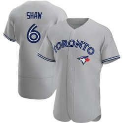 Travis Shaw Toronto Blue Jays Men's Authentic Road Jersey - Gray