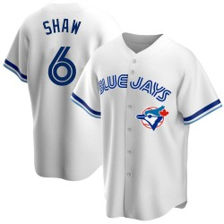 Travis Shaw Toronto Blue Jays Men's Replica Home Cooperstown Collection Jersey - White