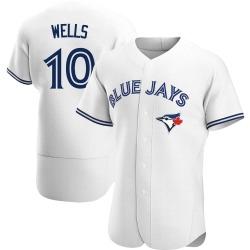 Vernon Wells Toronto Blue Jays Men's Authentic Home Jersey - White