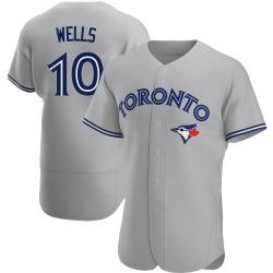 Vernon Wells Toronto Blue Jays Men's Authentic Road Jersey - Gray