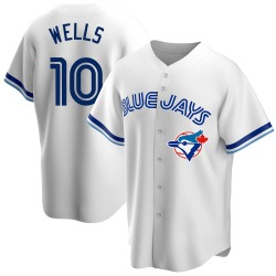 Vernon Wells Toronto Blue Jays Men's Replica Home Cooperstown Collection Jersey - White