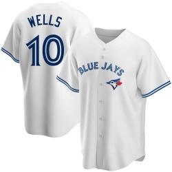 Vernon Wells Toronto Blue Jays Men's Replica Home Jersey - White