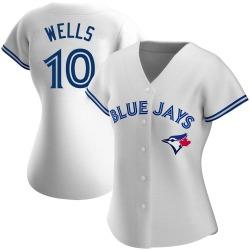 Vernon Wells Toronto Blue Jays Women's Authentic Home Jersey - White