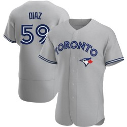 Yennsy Diaz Toronto Blue Jays Men's Authentic Road Jersey - Gray