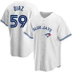Yennsy Diaz Toronto Blue Jays Men's Replica Home Jersey - White